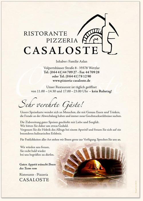 Casaloste_Speisekarte